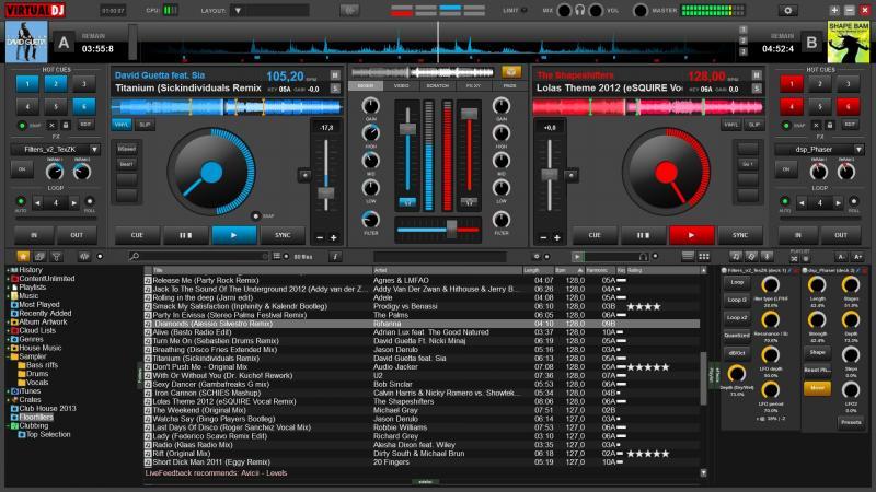 Un programa de DJ virtual gratuito y competente